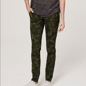 LOFT Camo Autumn Floral Pants